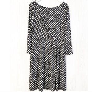 Gilli Viola Jersey Lattice Dress NWT Size XXL